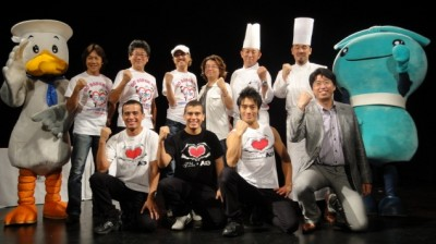 東日本大震災復興支援フェスティバルin横浜 記者会見で、決意を新たにする賛同者たち