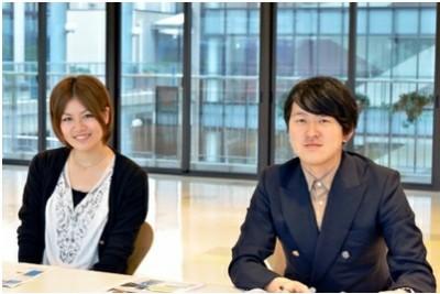 松蔭大学4年生 北島直人さん(右)と3年生 田畑みづきさん(左)(かながわ散歩ホームページより)