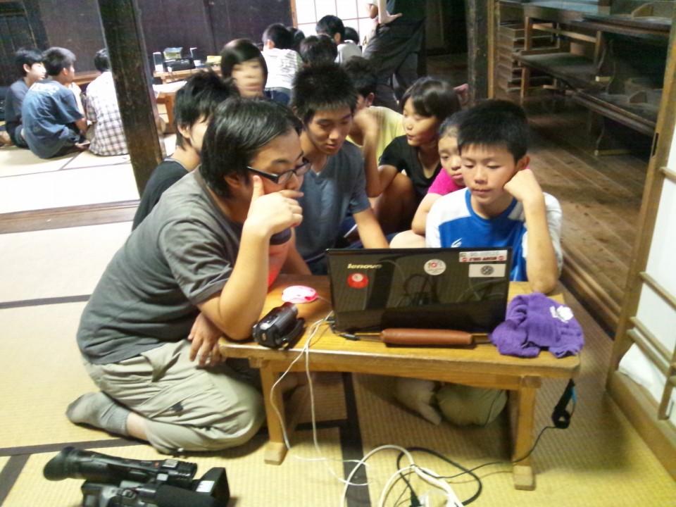 湘南市民メディアネットワークによる映像制作ワークショップの様子
