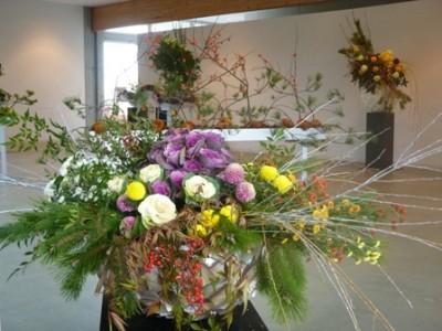 華の正月飾り(県立花と緑のふれあいセンター・花菜ガーデン ホームページより)