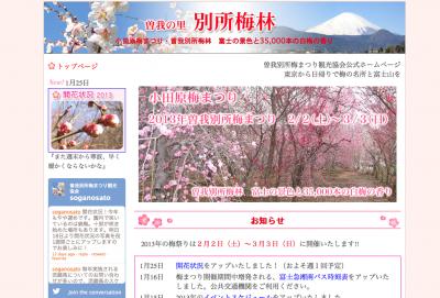 小田原梅まつり 曽我別所梅まつり観光協会公式ホームページ